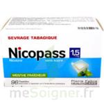 NICOPASS 1,5 mg SANS SUCRE MENTHE FRAICHEUR, pastille édulcorée à l'aspartam et à l'acésulfame potassique à Bordeaux
