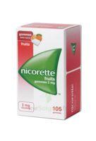 Nicorette 2 Mg Gomme à Mâcher Médicamenteuse Sans Sucre Fruits Plq/105 à Bordeaux