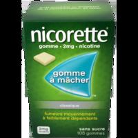 NICORETTE 2 mg Gom à mâcher médic sans sucre menthe fraîche Plq/105gom à Bordeaux