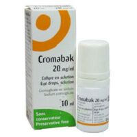 Cromabak 20 Mg/ml, Collyre En Solution à Bordeaux