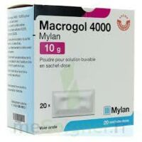 Macrogol 4000 Mylan 10 G, Poudre Pour Solution Buvable En Sachet-dose à Bordeaux
