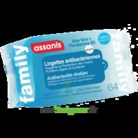 Assanis Family Lingette Antibactérien Mains Pochette/64 à Bordeaux