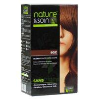 Nature & Soin Kit Coloration 6gc Blond Foncé Doré Cuivré à Bordeaux