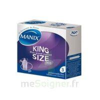 Manix King Size Préservatif avec réservoir lubrifié confort B/3 à Bordeaux