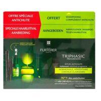 René Furterer Triphasic Progressive Sérum Antichute Coffret 8 Flacons X 5,5ml + Shampoing Stimulant 100 Ml à Bordeaux